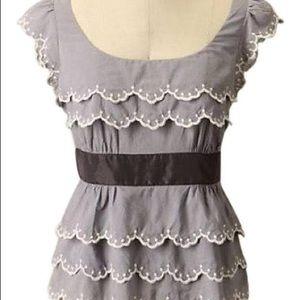 Anthropologie Floreat Wavelet peplum blouse top 2